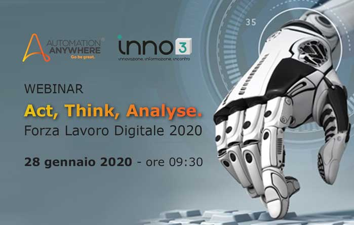 Act, Think, Analyse. Forza Lavoro Digitale 2020