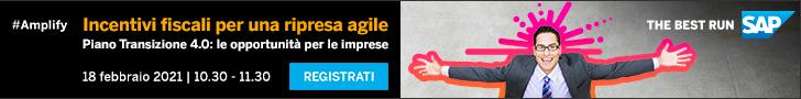 SAP Webinar – Incentivi per una ripresa agile, 18 febbraio